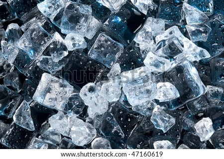 Abstract Black Ice Creative Coold Background Stock Photo