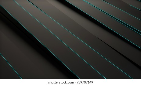 Abstract black panels 3D background