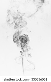 Abstract black smoke on a white background. Design element. Abstract texture.