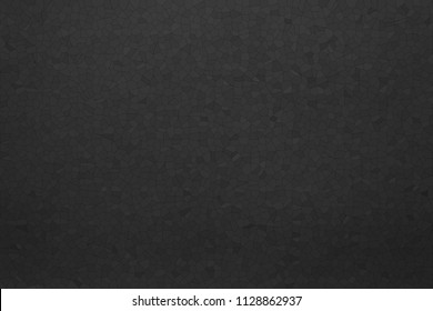 the abstract black textured background and wallpaper with imitation of paper or plastic with a mosaic pattern