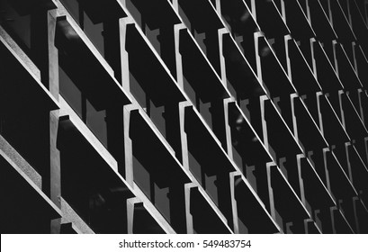 Abstract Black and White Architecture