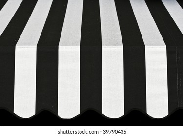Abstract Black and White Awning