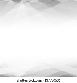 Abstract black and white background. Lowpoly vector illustration
