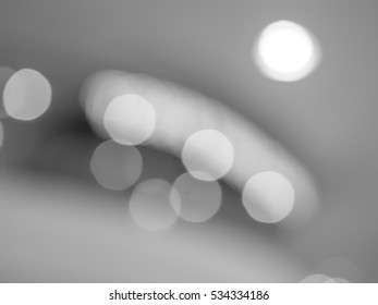 Abstract black and white bokeh and blurry background
