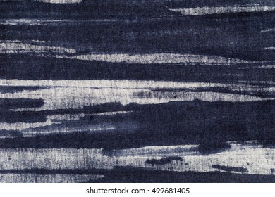 Abstract black and white Cotton fabric pattern texture as background