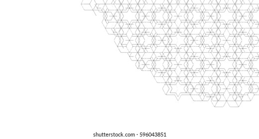 Abstract Black and White Geometric Pattern with Rhombuses. Inclined Cube Structural Texture of Tile Wall. Raster. 3D Illustration