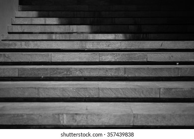 Abstract black and white shadow of stair.