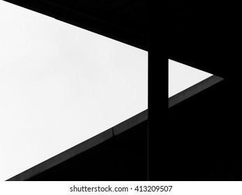 abstract black & white shaped building silhouette