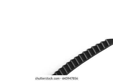 Abstract black and white staircase