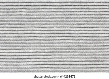 Abstract black and white striped fabric textured background. Seamless pattern