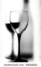 Abstract black and white wine background design.