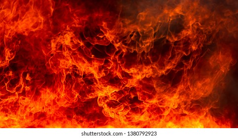Abstract of blaze fire flame texture for background.