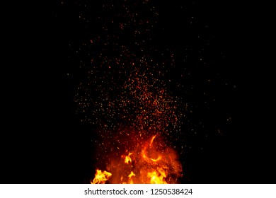 Abstract blaze fire flames texture background