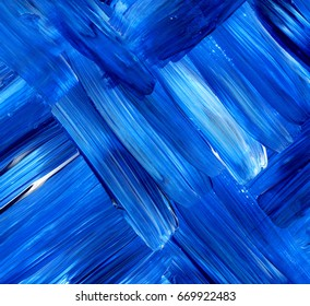Abstract blue acrylic background, texture