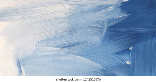 Abstract blue art painting background. Modern art. Contemporary art