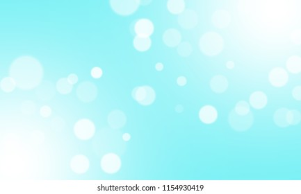 Abstract blue background and blur bokeh light effect