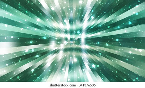 abstract blue background. fractal explosion star with gloss and lines