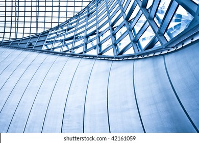 Abstract blue background with lines