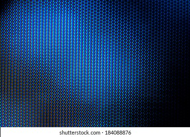 Abstract blue background - macro shot of a LCD tv pixels