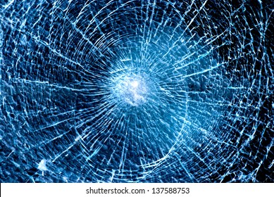 abstract blue background shattered glass