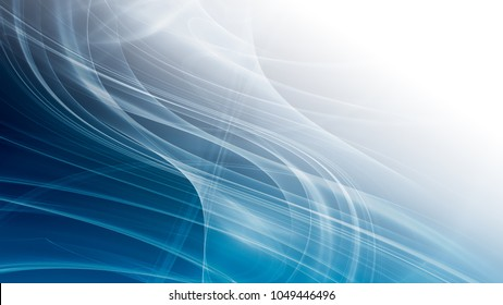 abstract blue background with smooth shining lines