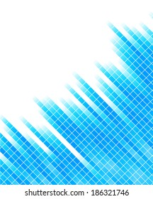 abstract blue background with square; clip-art, raster copy