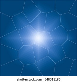 abstract blue black background texture with bright center