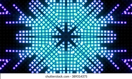 Abstract blue block lights background