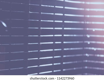 abstract blue blur of city lighting digital lens flare glare, blinds light shadow background