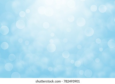 Abstract blue bokeh background.