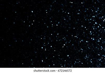 abstract blue Bokeh circles Christmas background, glitter light Defocused