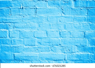 Abstract blue brick wall texture for background