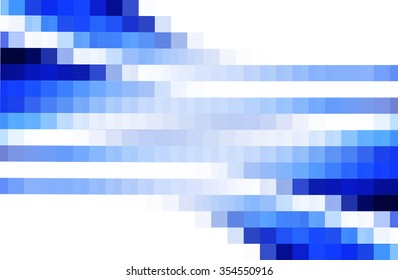 abstract  blue  color  background   with block blur and square pattern