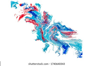 Abstract blue dragon. Acrylic, watercolor painting. Matte Painted Abstract Background. Acrylic fill. 2d illustration.