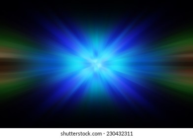 Abstract blue fractal composition. Magic
