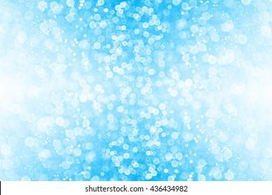 Abstract blue glitter sparkle background or confetti party invitation
