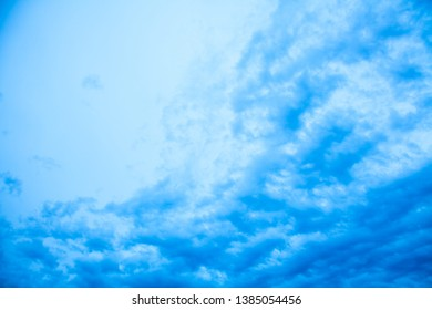 Abstract blue horizontal background (sky)