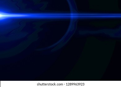 abstract blue light pulses and glows leaks motion background, with defocus horizontal lines movement effect