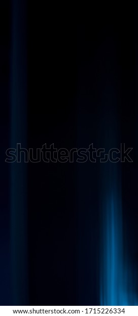 Abstract blue lines on black background, panorama