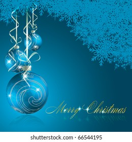 Abstract blue merry christmas background