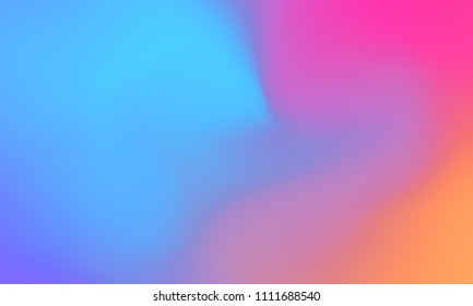 Abstract blue orange and pink soft cloud background in pastel colorful gradation.