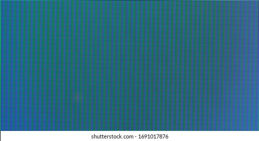 Abstract blue pixel background with smooth blurred transition. Macro photography on a large scale