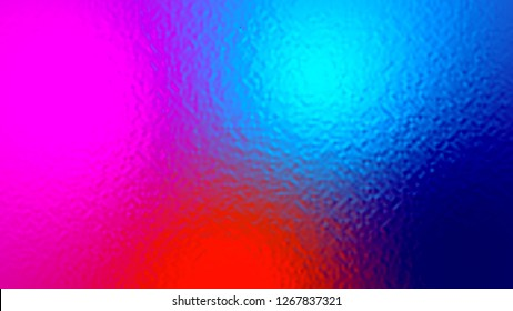 Abstract blue red and purple light neon fog soft glass background texture in pastel colorful gradation.