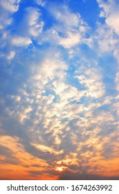 abstract blue sky and cloud  on sunset in the evening for background texture