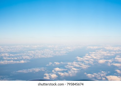 abstract blue sky and clouds background