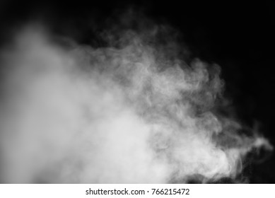 Abstract blue smoke motion on black background.