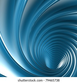 abstract blue twirl
