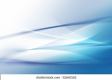 Abstract blue waves or veils background texture