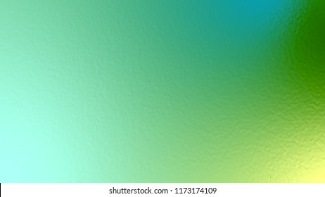 Abstract blue yellow and green light neon fog soft glass background texture in pastel colorful gradation.