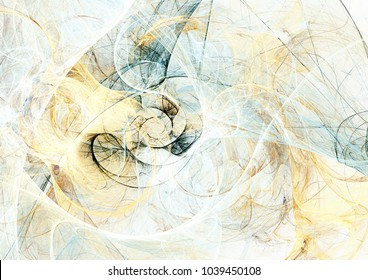 Abstract blue, yellow and grey color motion composition. Modern futuristic dynamic background. Soft pattern. Fractal artwork for creative graphic design.